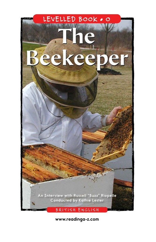 Book Preview For The Beekeeper Page 1