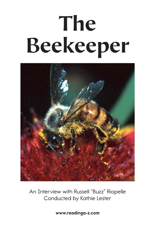 Book Preview For The Beekeeper Page 2
