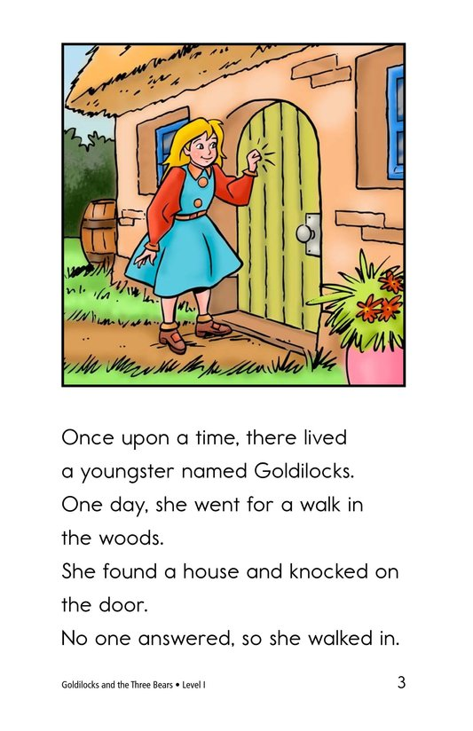 Book Preview For Goldilocks and the Three Bears Page 3