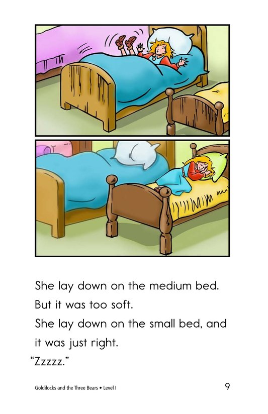 Book Preview For Goldilocks and the Three Bears Page 9