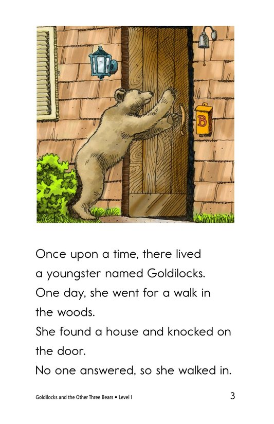 Book Preview For Goldilocks and the Other Three Bears Page 3