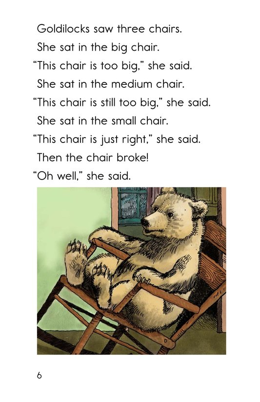 Book Preview For Goldilocks and the Other Three Bears Page 6