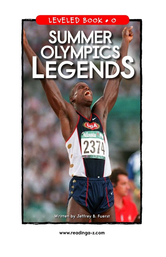 Book Preview For Summer Olympics Legends Page 1