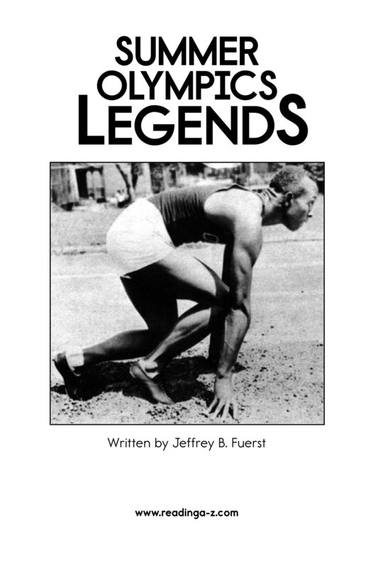 Book Preview For Summer Olympics Legends Page 2