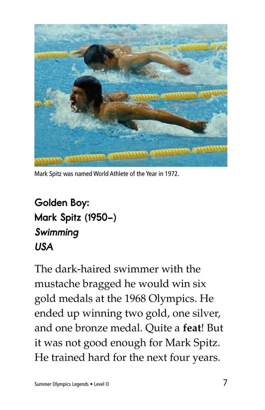 Book Preview For Summer Olympics Legends Page 7