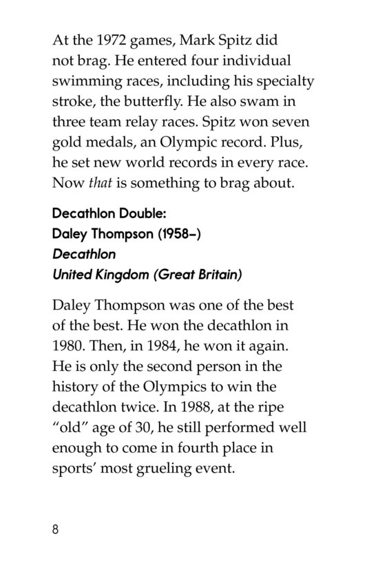 Book Preview For Summer Olympics Legends Page 8