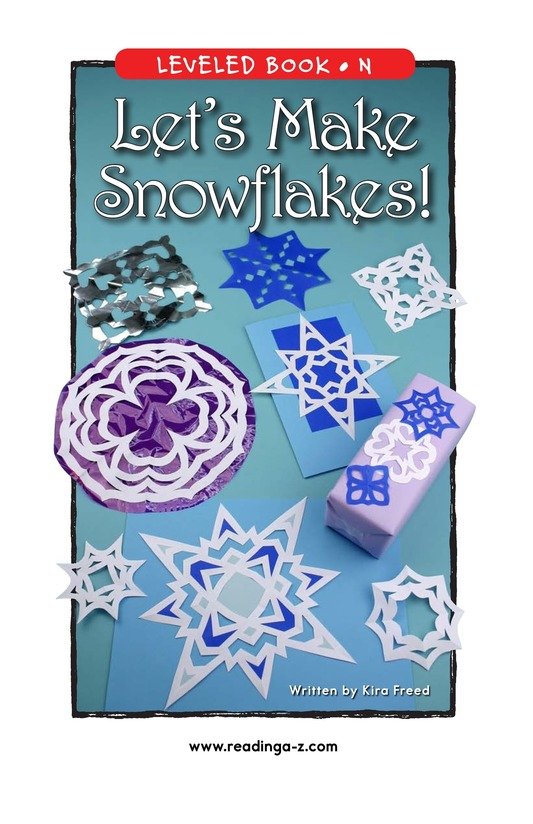 Book Preview For Let's Make Snowflakes! Page 1