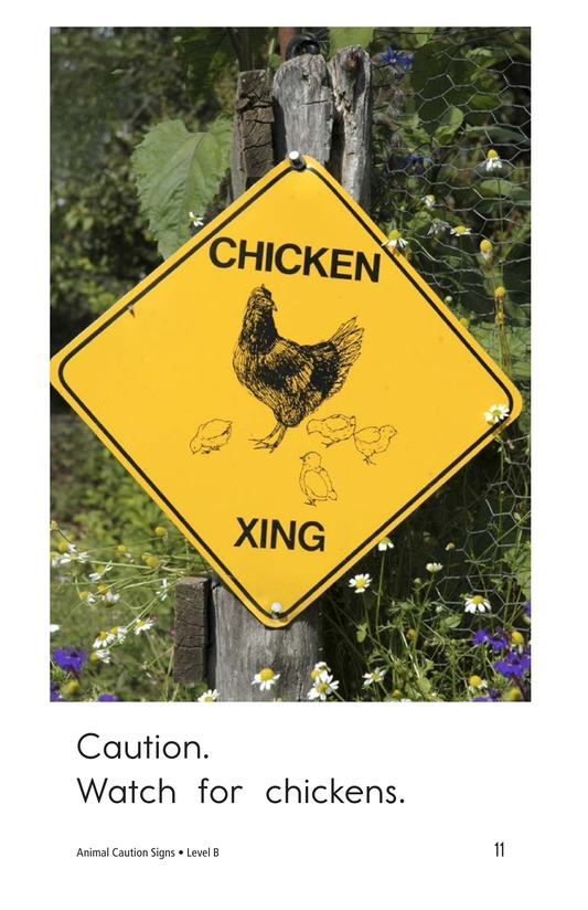 Book Preview For Animal Caution Signs Page 11