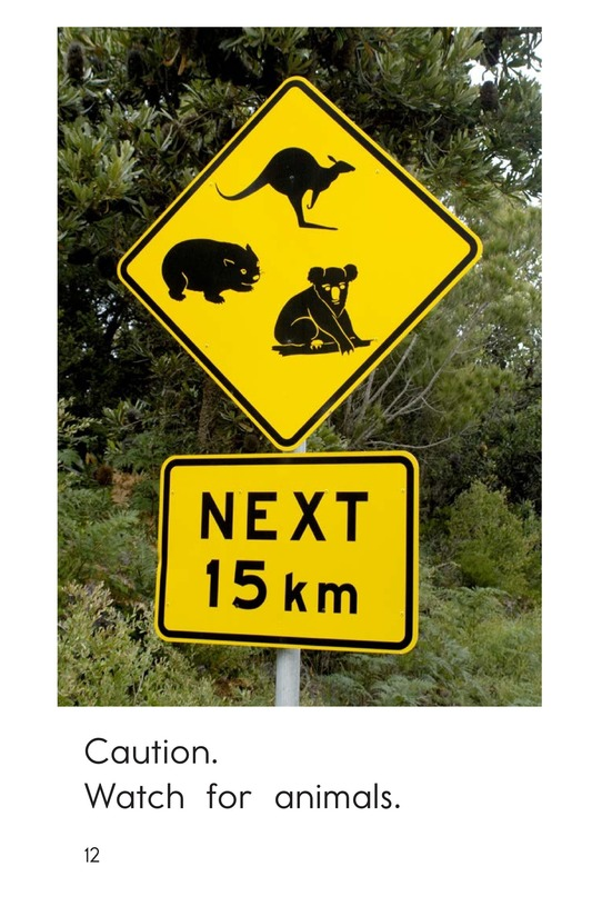 Book Preview For Animal Caution Signs Page 12