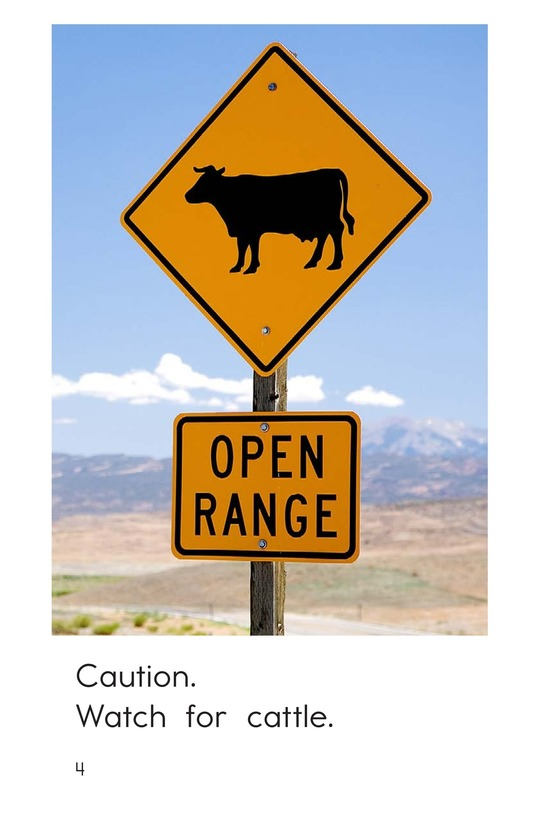 Book Preview For Animal Caution Signs Page 4