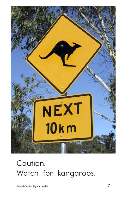 Book Preview For Animal Caution Signs Page 7