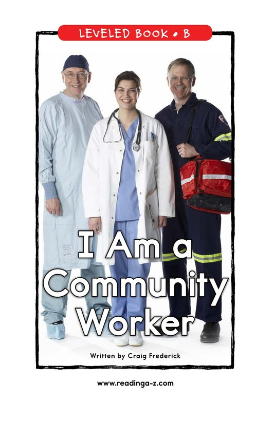 Book Preview For I Am a Community Worker Page 0