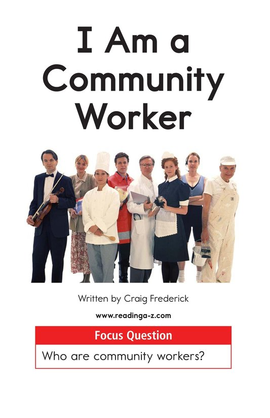 Book Preview For I Am a Community Worker Page 1
