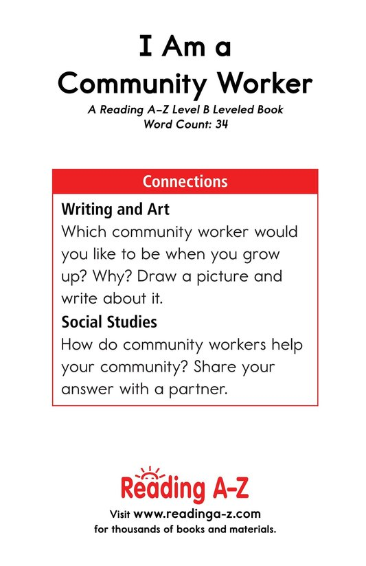 Book Preview For I Am a Community Worker Page 11