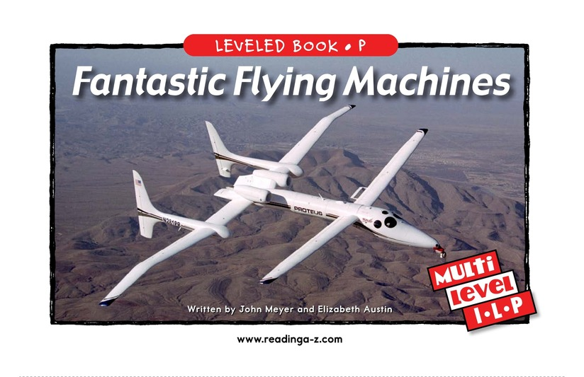 Book Preview For Fantastic Flying Machines Page 1