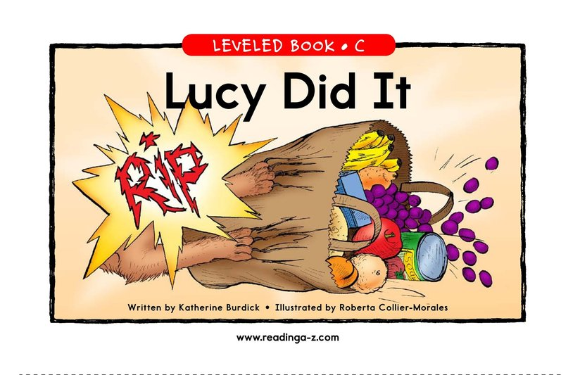Book Preview For Lucy Did It Page 1