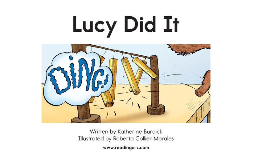 Book Preview For Lucy Did It Page 2