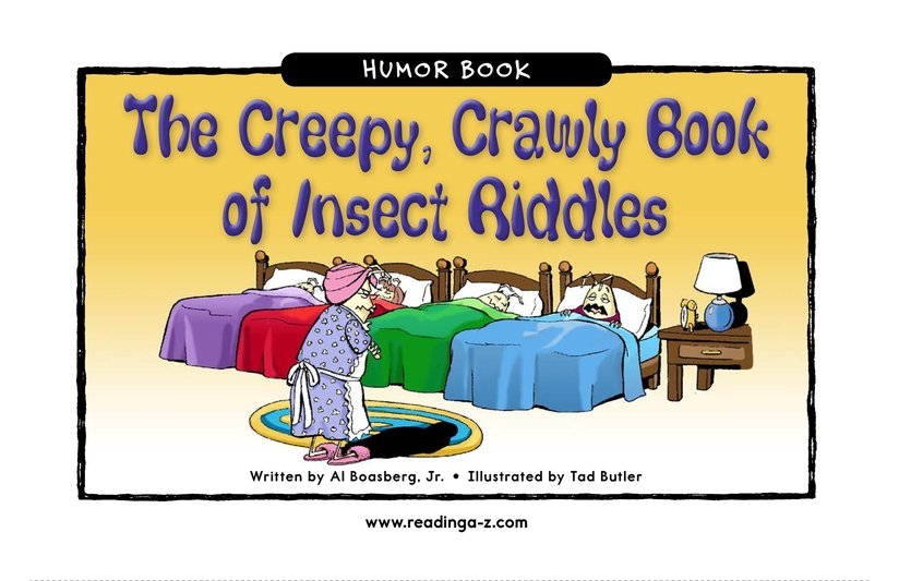 Book Preview For The Creepy, Crawly Book of Insect Riddles Page 1
