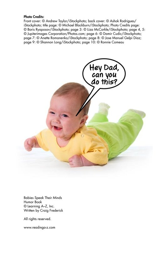 Book Preview For Babies Speak Their Minds Page 11
