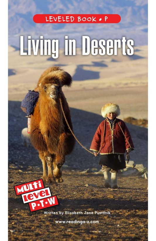 Book Preview For Living in Deserts Page 0