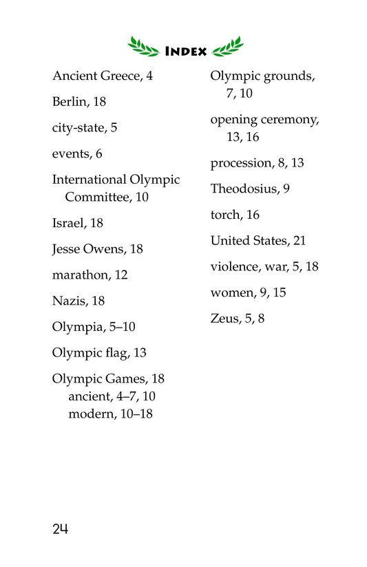 Book Preview For The Olympics: Past and Present Page 24