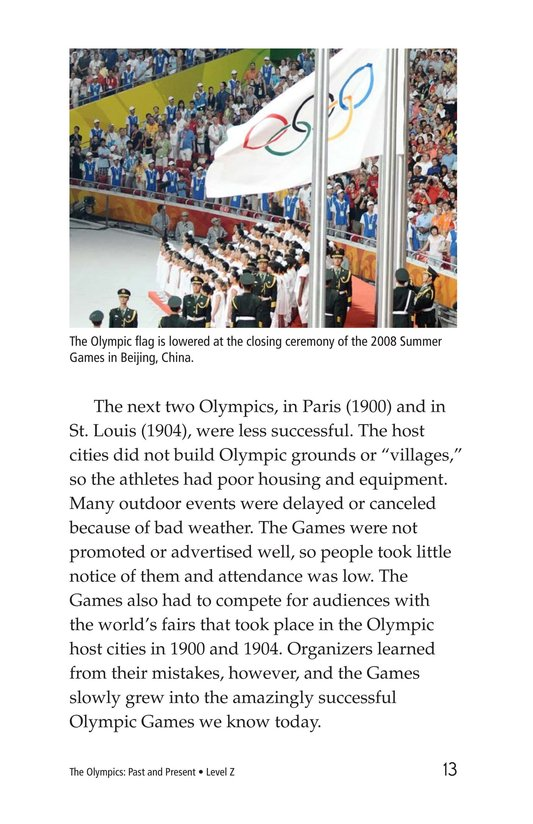 Book Preview For The Olympics: Past and Present Page 13