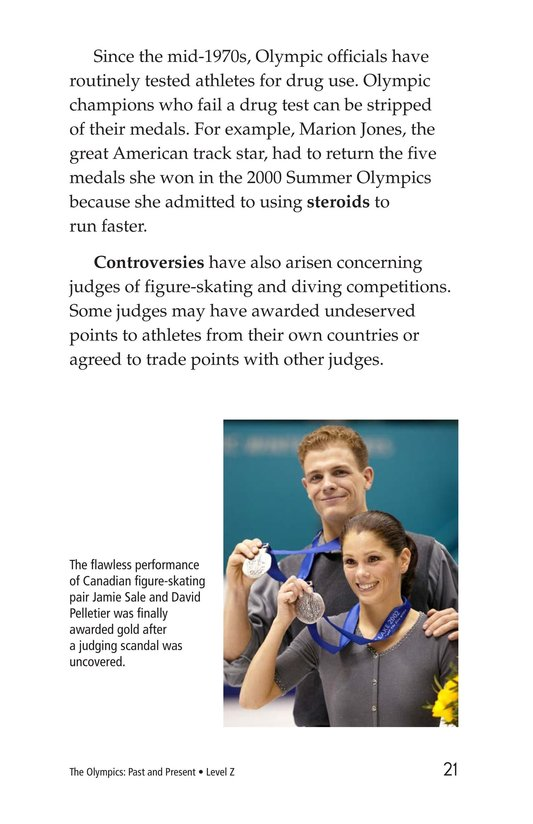 Book Preview For The Olympics: Past and Present Page 21