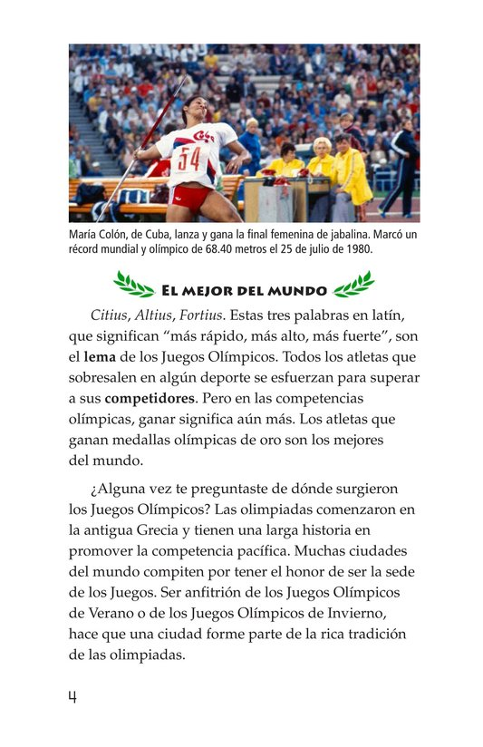 Book Preview For The Olympics: Past and Present Page 4