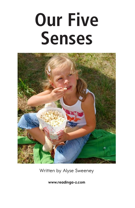 Book Preview For Our Five Senses Page 2
