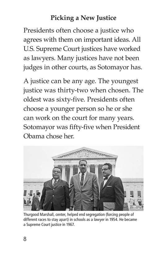 Book Preview For Sonia Joins the Supreme Court Page 8