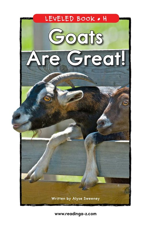 Book Preview For Goats Are Great! Page 1