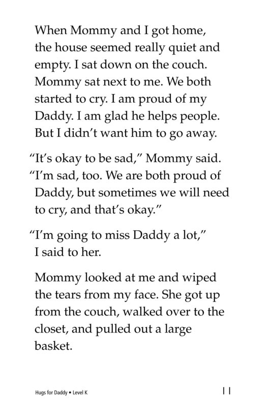 Book Preview For Hugs for Daddy Page 11
