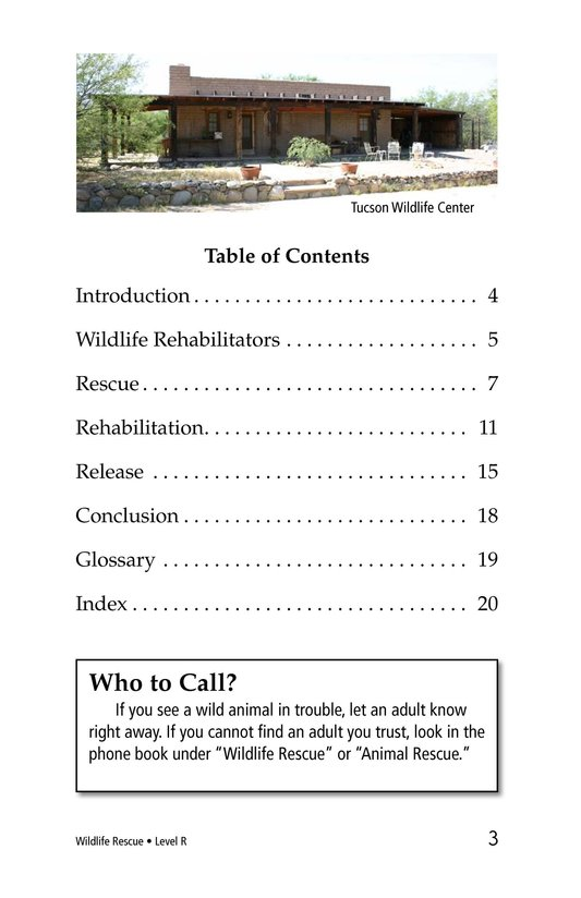 Book Preview For Wildlife Rescue Page 3