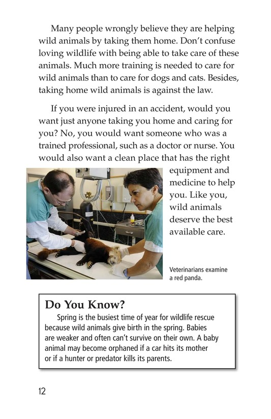 Book Preview For Wildlife Rescue Page 12