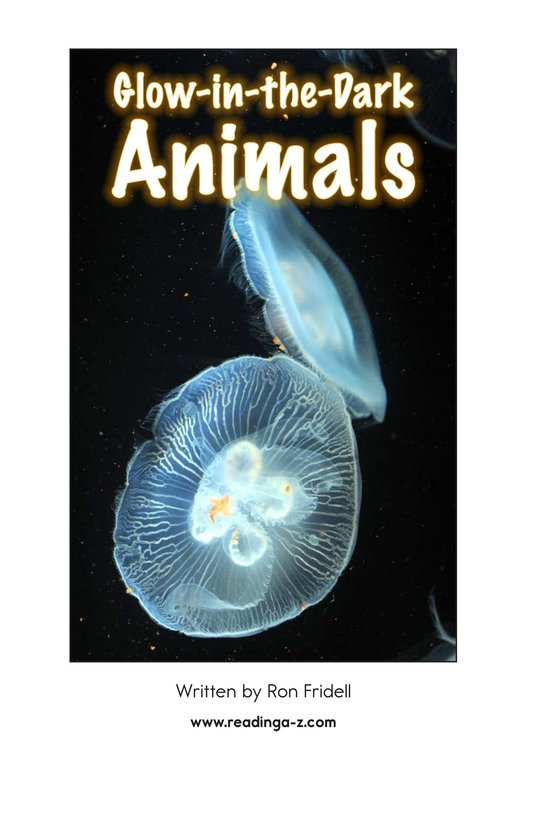 Book Preview For Glow-in-the-Dark Animals Page 2