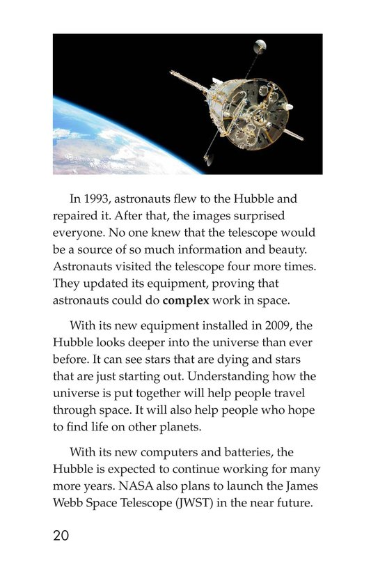 Book Preview For Hubble: An Out-of-This-World Telescope Page 20