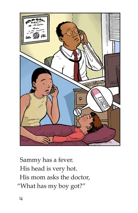 Book Preview For Sammy Has the Flu Page 4