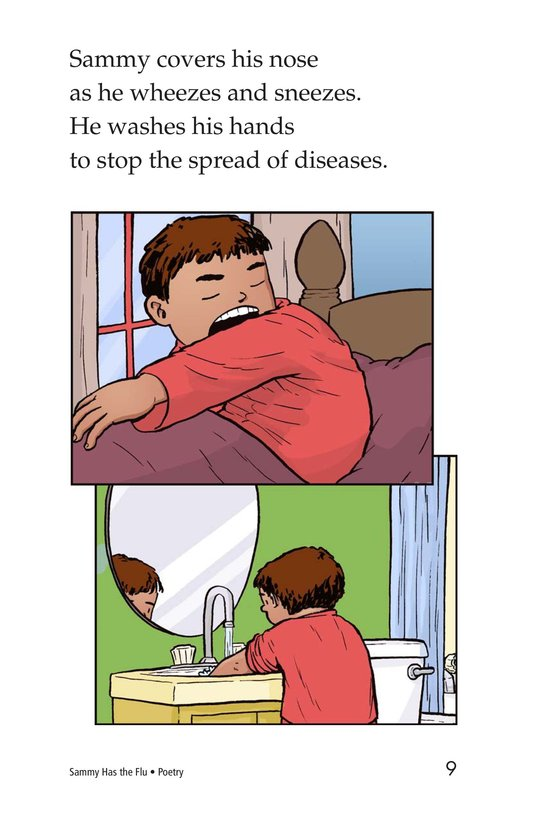 Book Preview For Sammy Has the Flu Page 9