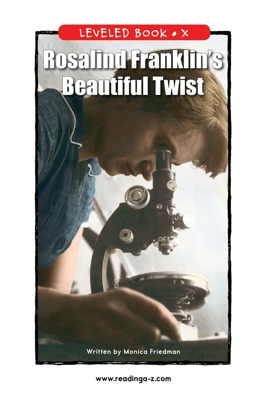 Book Preview For Rosalind Franklin's Beautiful Twist Page 1