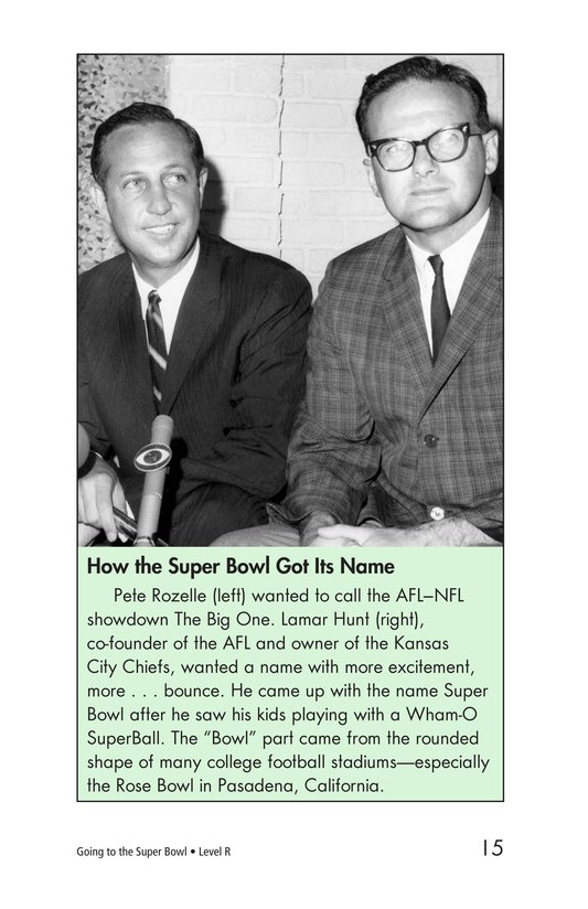 Book Preview For Going to the Super Bowl Page 15