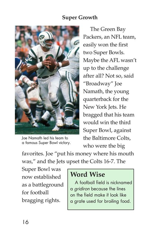 Book Preview For Going to the Super Bowl Page 16