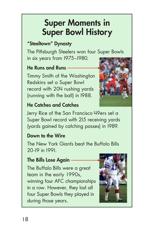 Book Preview For Going to the Super Bowl Page 18