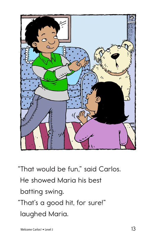 Book Preview For Welcome, Carlos! Page 13