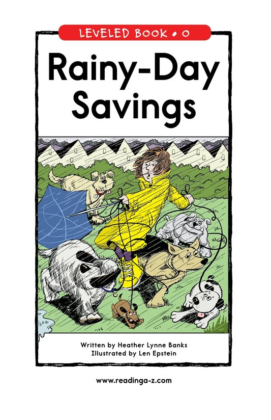 Book Preview For Rainy-Day Savings Page 1