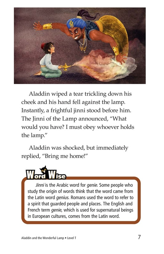 Book Preview For Aladdin and the Wonderful Lamp Page 7