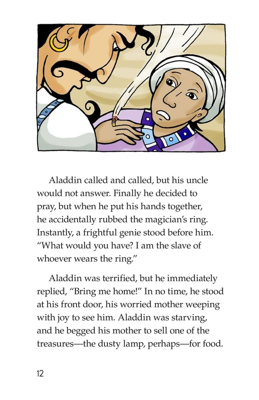 Book Preview For Aladdin and the Wonderful Lamp Page 12