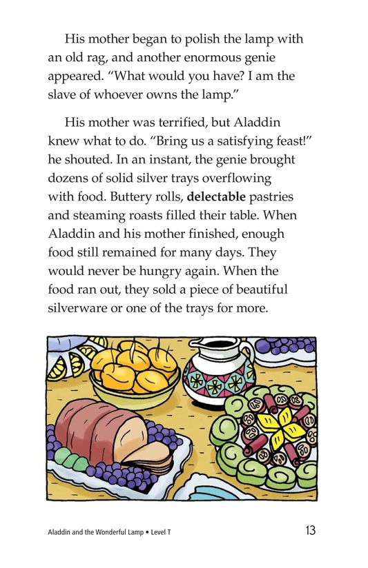 Book Preview For Aladdin and the Wonderful Lamp Page 13