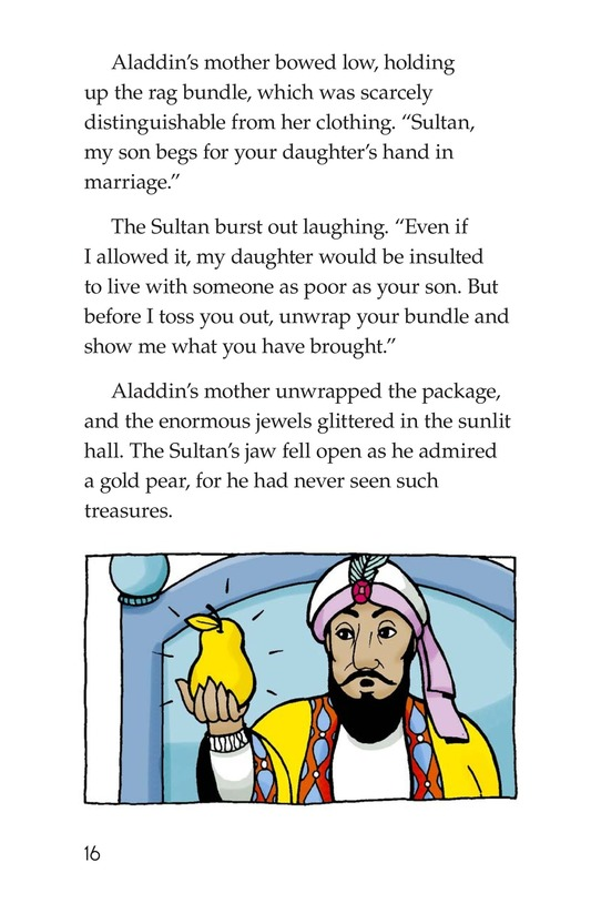 Book Preview For Aladdin and the Wonderful Lamp Page 16