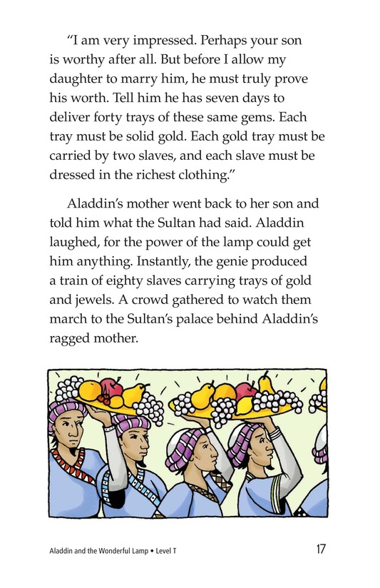 Book Preview For Aladdin and the Wonderful Lamp Page 17