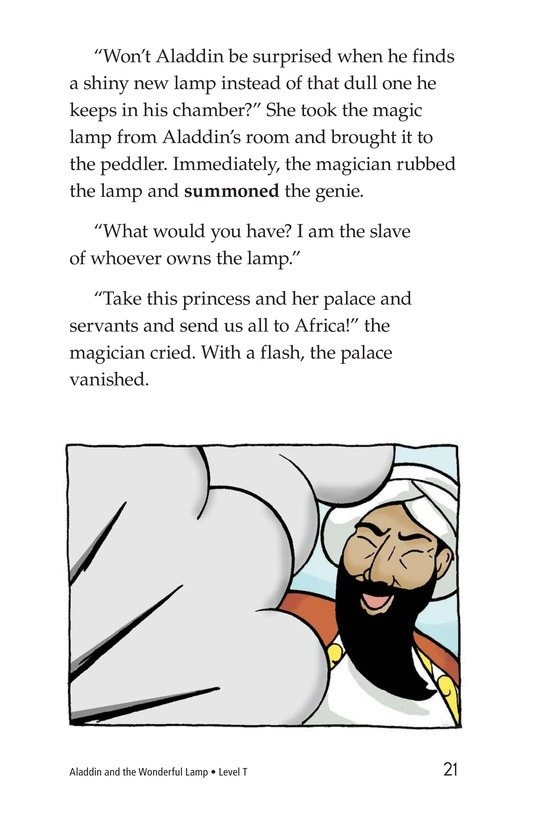 Book Preview For Aladdin and the Wonderful Lamp Page 21
